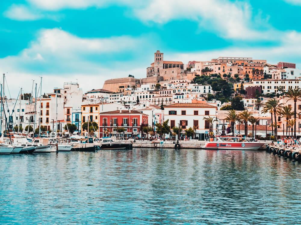 Ibiza Stadt Hafen